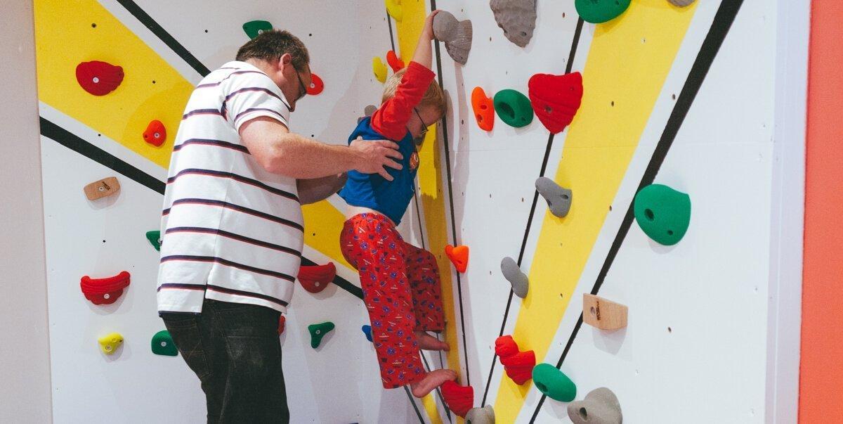 building Harveys climbing wall header image