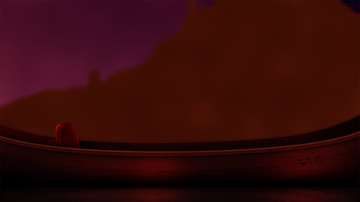 Step by step process of recreating the lake scene from Disney's 'Tangled'.
