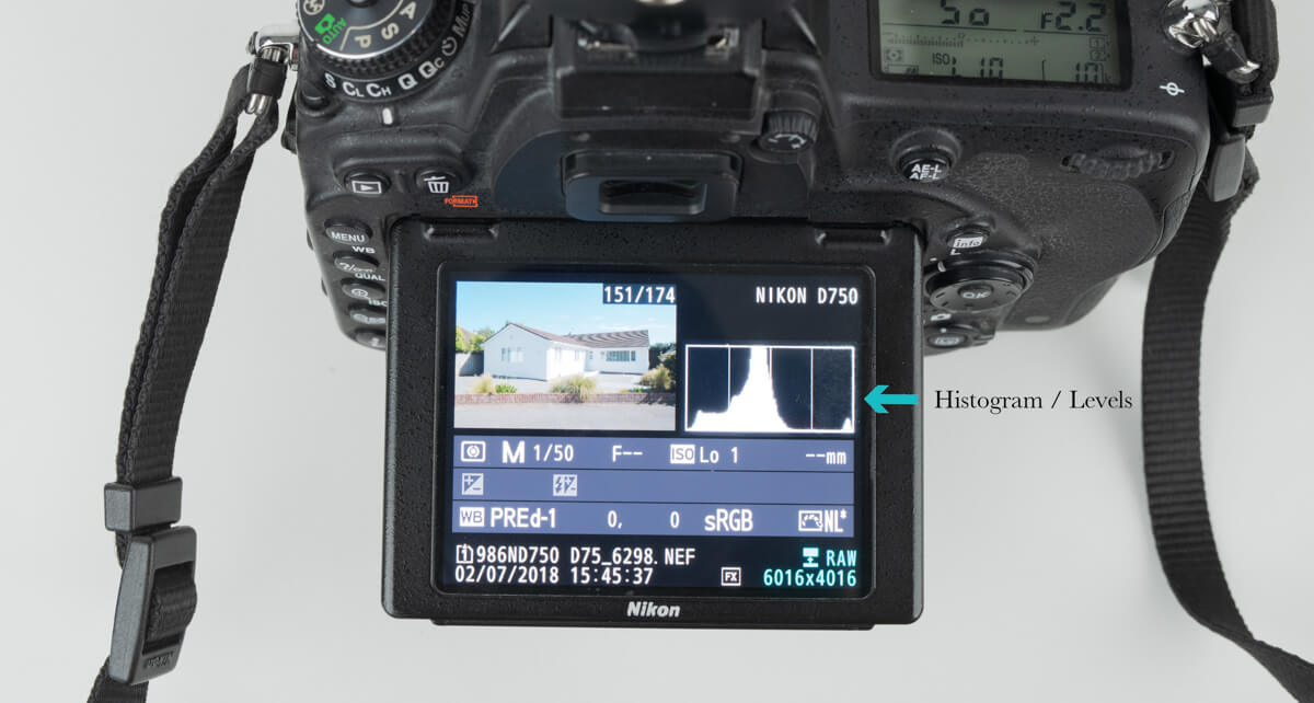 all cameras have a playback display that shows each images histogram.