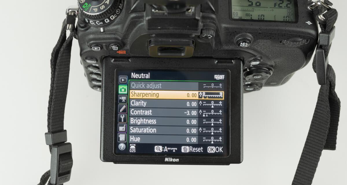 Nikon d750 set picture control