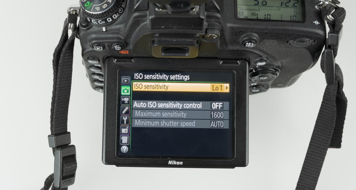 Nikon d750's iso menu