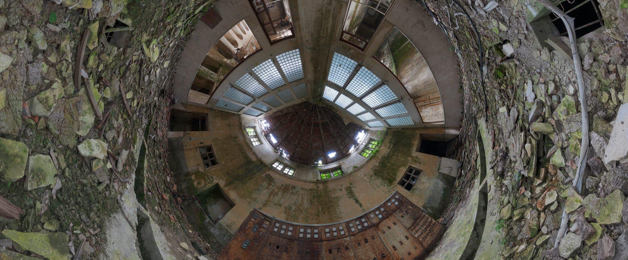 virtual tour urbex exploration italian factory