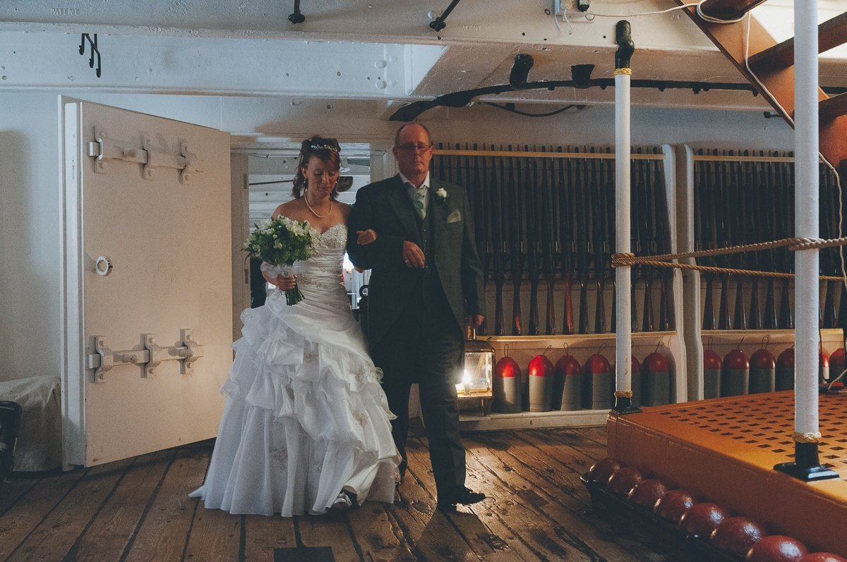 wedding photography from HMS Warrior in Portsmouth