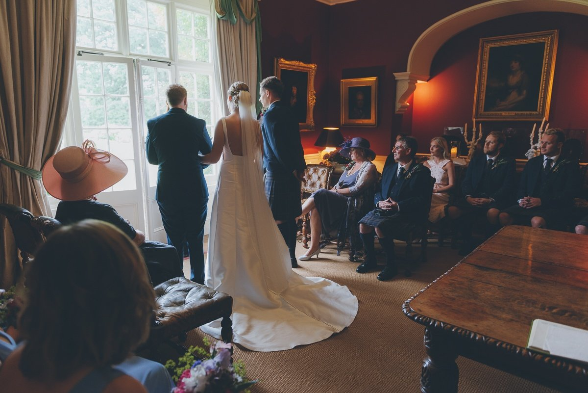 wedding photography from shillingstone house in blandford